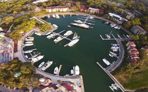 Hilton Head Harbour boats marina birdview.jpg