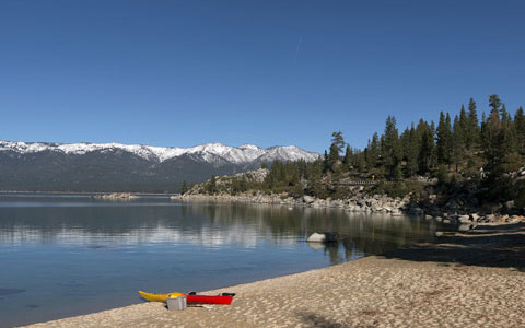 Lake Tahoe kajak beach