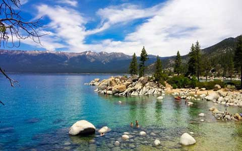Lake Tahoe summer bathing